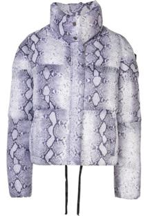 Apparis Snake Print Puffer Jacket - Branco