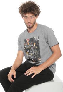 Camiseta Hang Loose Volcano Cinza