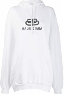 Balenciaga Blusa De Moletom Bb Com Logo - Branco
