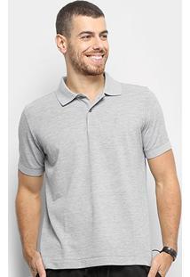 Camisa Polo Zoomp Pima Cotton Masculina - Masculino-Cinza Claro