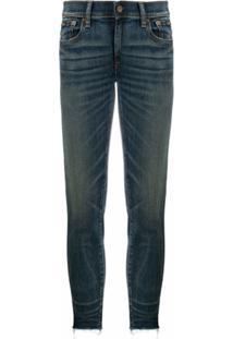 Polo Ralph Lauren Calça Jeans Skinny Cropped - Azul