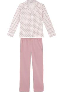 Pijama Plus Size Feminino Lua Cheia Aberto Flanelado