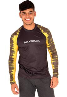 Camisa Longa Lines Camiseta Masculino Proteção Uv50+Dry Fit - Kanui