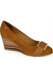 Sapato Anabela Bottero Caramelo