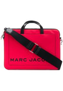 Marc Jacobs Bolsa Para Notebook Com Logo - Vermelho