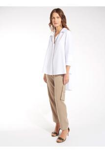 Camisa Rosa Chá Misty 2 Off White Feminina (Off White, Pp)