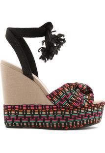 Sandália Anabela Bold Knit Multicolor | Schutz