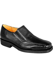 Sapato Social Masculino Side Gore Sandro Moscoloni Arthur Leather Preto