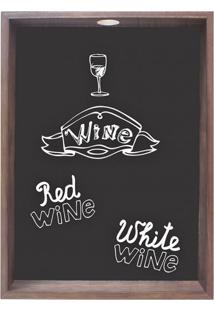 Quadro Porta Rolhas Wine Lll Madeira