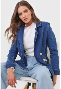Blazer Jeans Lanã§A Perfume Alfaiataria Azul - Azul - Feminino - Dafiti