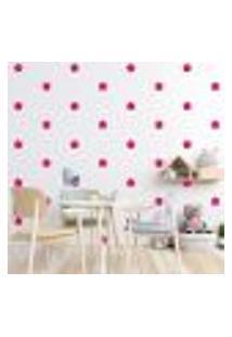 Adesivo Decorativo De Parede - Kit Com 60 Flores - 013Kad10