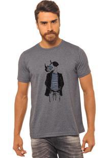 Camiseta Chumbo Estampada Masculina Joss - Rinoceronte