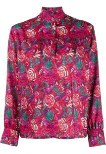 Roseanna Floral-Print Blouse - Vermelho