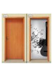 Adesivo Decorativo De Porta - Violão - 1633Cnpt