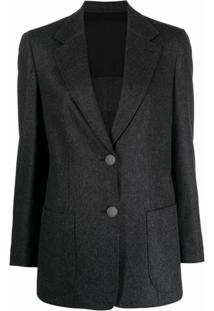 Giorgio Armani Notched-Lapel Single-Breasted Blazer - Cinza