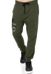 Calça Moletom Gangster Masculina - Masculino-Verde