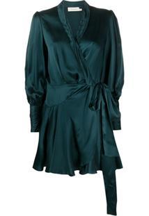 Zimmermann Vestido Envelope De Seda - Verde