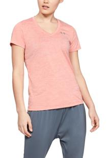 Camiseta Under Armour Camiseta Under Armour Tech Twist V-Neck Feminina Laranja