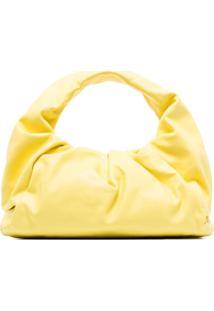 Bottega Veneta Bolsa The Shoulder Pouch Pequena De Couro - Amarelo