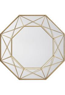 Espelho Decorativo Melissandre 50 X 77 Cm Dourado