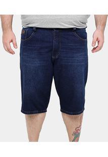 Bermuda Jeans Biotipo Stone Plus Size Masculina - Masculino