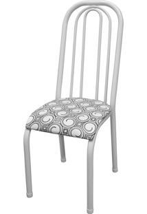 Cadeira Roma Alta Branco/Espiral Açomix