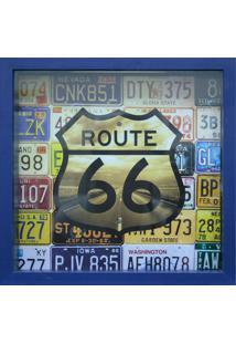 Quadro Porta Tickets 27X27Cm Route 66-Kapos - Azul