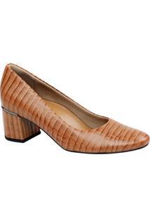 9cbb28e968 ... Sapato Tradicional Em Couro Texturizado- Laranja   Marrousaflex