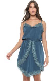 Vestido Slip Dress My Favorite Thing(S) Curto Renda Verde