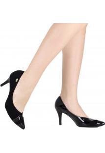 Sapato Luz Da Lua Scarpin Bico Fino