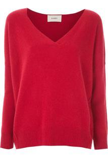 Egrey Blusa De Tricô De Lã - Vermelho