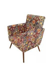 Poltrona Decorativa Pés Palito Nina Suede Mosaico - Ds Móveis