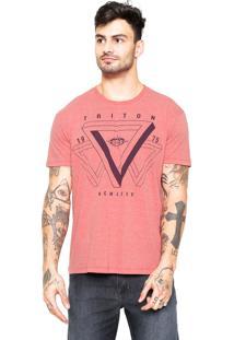 Camiseta Triton Estampada Laranja