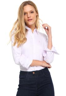 Camisa Pólo Manga Longa Reta feminina  a27b8943f2e98