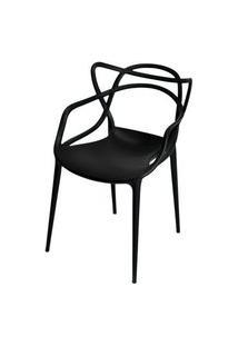 Cadeira Master Allegra Polipropileno Preta - 21397 Preto
