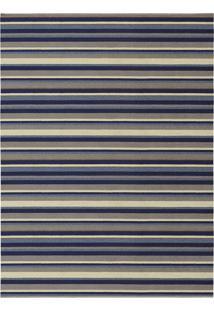Tapete Metrópole Retangular Rústico (200X300 Cm) Azul