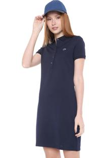 Vestido Polo Lacoste Curto Logo Azul-Marinho
