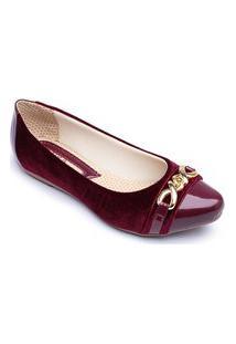 Sapatilha Feminina Elegante Confortável Super Leve - Vinho 3026