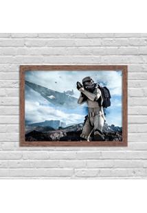 Quadro Decorativo Gamer Stormtrooper Madeira - Grande