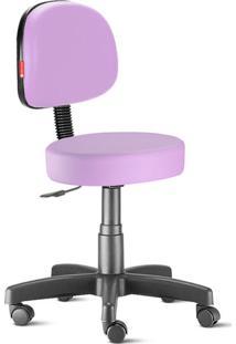 Cadeira Mocho Lilás Secretária Giratória