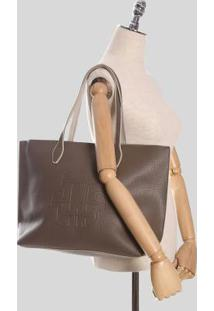 Bolsa Shopping Ana Hickmann Mandala Taupe
