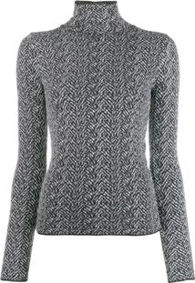Versace Chevron Knitted Jumper - Preto
