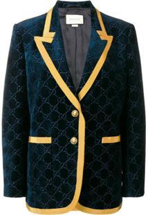 Gucci Velvet Style Blazer - Azul