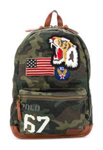 Ralph Lauren Patch Embroidered Backpackcamo - Verde