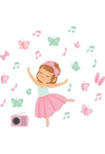 Adesivo De Parede Infantil Menina Bailarina