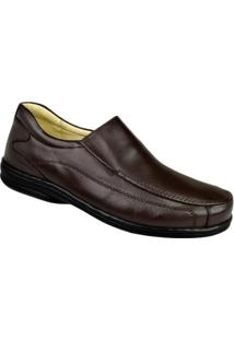Sapato Conforto Couro Opananken Masculino - Masculino-Marrom