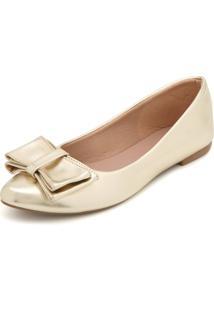Sapatilha Dafiti Shoes Metalizada Dourada