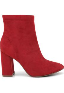 Bota Feminino Milano Sued Scarlet 9764