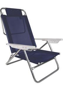 Cadeira Reclinável Summer Azul Royal Alumínio E Pvc Mor