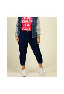 Calça Plus Size Feminino Jeans Skinny Razon